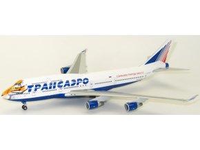 Herpa - Boeing B747-412, společnost Transaero Airlines, Rusko, 1/200