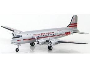 Hobbymaster - Douglas DC-4, společnost Trans World Airlines, USA, 1/200