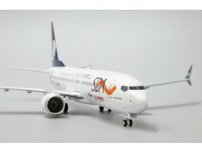 """JC Wings - Boeing B737-8MAX, Shangdong Airlines, """"Guomei Livery"""", Čína, 1/200"""