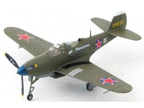 HobbyMaster - P-39N Airacobra, sovětské letectvo, Capt.Ivan II'ich Babak, Německo, leden, 1945, 1/72