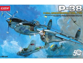 Academy - Lockheed P-38 Lightning, Combination Version, Model Kit 12282, 1/48