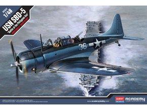 """Academy - Douglas SBD-5 Dauntless, US NAVY, """"Bitva ve Filipínském moři"""", Model Kit 12329, 1/48"""