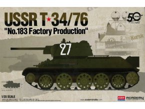 "Academy - T-34/76 ""No.183 Factory Production"", SSSR, Model Kit 13505, 1/35"