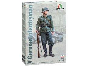 Italeri - figurka německý pěšák, Wehrmacht, Model Kit 7407, 1/9