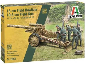 Italeri - 15 cm Field Howitzer / 10,5 cm Field Gun, Model Kit 7082, 1/72