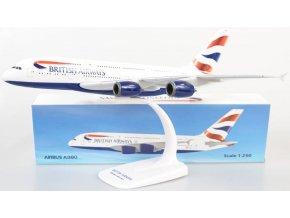 "PPC Holland - Airbus A380-841, společnost British Airways, ""United Kingdom - Union Jack"" Colors, ""To Fly To Serve"" Logo, Velká Británie, 1/250"
