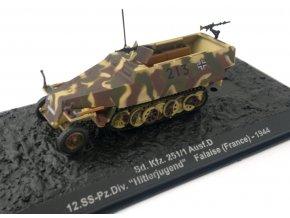 """Altaya - Sd.Kfz.251/1 Ausf.D ''Hakl'', 12.SS-Pz.Div. """"Hitlerjugend"""", Francie, 1944, 1/72"""