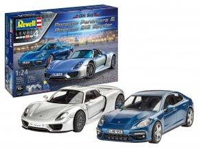 Revell - Porsche Set Porsche Panamera + Porsche 918 Spyder, Gift-Set 05681, 1/24