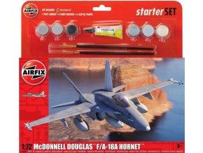 Airfix - McDonnell Douglas F/A-18A Hornet, Starter Set A55313, 1/72