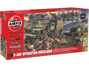 Airfix - diorama vylodění v Normandii, D-Day 75th Anniversary Operation Overlord, Gift Set A50162A, 1/76