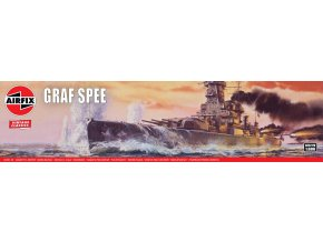 Airfix - Admiral Graf Spee, Classic Kit VINTAGE A04211V, 1/600