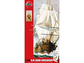 Airfix - set lodí Endeavour Bark and Captain Cook, 250th anniversary, Gift Set A50047, 1/120