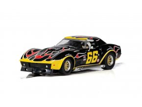 SCALEXTRIC - Autíčko Chevrolet Corvette - No. 66 'Flames', GT SCALEXTRIC C4107, 1/32