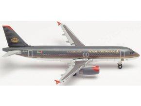 "Herpa - Airbus A320-232, společnost Royal Jordanian, ""2000s"" Colors Named ""Aqaba"", Jordánsko, 1/500"