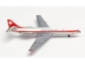 "Herpa - Sud Aviation Se-210 Caravelle III, dopravce Swissair,""1960s"" Colors, Švýcarsko, 1/500"