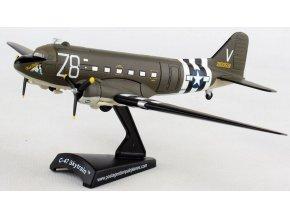 """Postage Stamp Collection - Douglas C-47 Skytrain, USAF, D-Day, """"Tico Belle"""", vylodění v Normandii, USA, 1/144"""