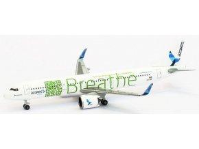 Herpa - Airbus A321neo, společnost SATA Azores Airlines BREATHE CS-TSF, Portugalsko, 1/500