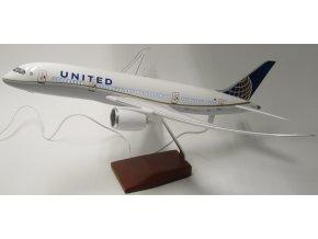 Led Model Inc - Boeing 787-9 s LED osvětlením, společnost United Airlines, USA, 1/140