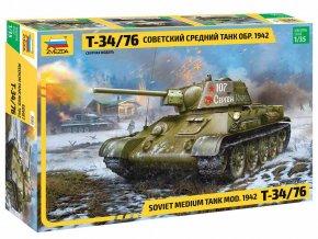 Zvezda - T-34/76 mod.1942, Model Kit tank 3686, 1/35