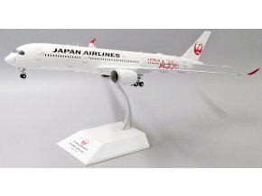 """JC Wings - Airbus A350-900 JAL, dopravce Japan Airlines """"JAL RED"""" JA01XJ With Stand, Japonsko, 1/200"""