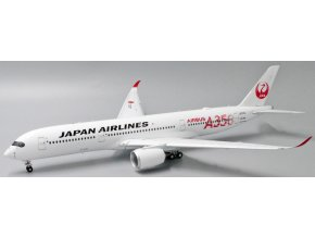 """JC Wings - Airbus A350-900 JAL, dopravce Japan Airlines """"JAL RED"""" """"Flap Down"""" JA01XJ With Stand, Japonsko, 1/200"""