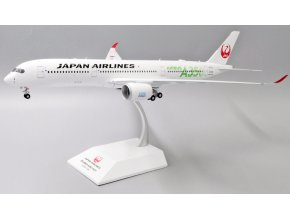 """JC Wings - Airbus A350-900XWB, dopravce Japan Airlines """"JAL Green"""" JA03XJ With Stand, Japonsko, 1/200"""