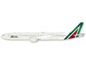 "JC Wings - Boeing B777-300ER, dopravce Alitalia ""Flap Down"" EI-WLA With Stand, Itálie, 1/200"
