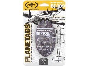 PlaneTags - přívěsek ze skutečného letadla Messerschmitt BF-109, Luftwaffe, výr. číslo 610937