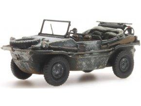 Artitec - Schwimmwagen VW 166 K2s, Wehrmacht, zimní kamufláž, 1/87