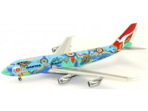 "J Fox - Boeing B747-338, dopravce Qantas, ""Nalanji Dreaming"" Colors, Austrálie, 1/200"