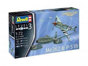 Revell - Combat set, Messerschmitt Me262 & North American P-51B Mustang, model kit 03711, 1/72