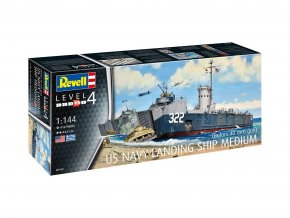 Revell - US Navy Landing ship medium (Bofors 40 mm gun), Model Kit 05169, 1/144