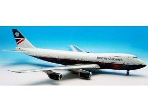 "J Fox - Boeing  B 747-436, dopravce British Airways, ""Landor"" Colors, Named ""City of Norwich"", 1/200"