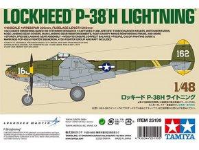 Tamiya - Lockheed P38H Lightning, Model Kit 25199, 1/48