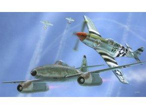 Revell - Combat set: Messerschmitt Me262A-1 + P-51B Mustang, Model Kit 03711, 1/72
