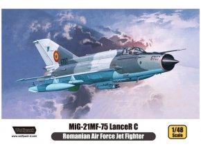 "Wolfpack - Mikojan-Gurevič MiG-21MF-75 ""Fishbed"" Lancer C 'Romanian Air Force', Model Kit WP14806, 1/48"