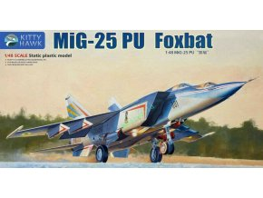 Kitty Hawk - Mikoyan MiG25PU Foxbat Dual, Model Kit KH80136, 1/48