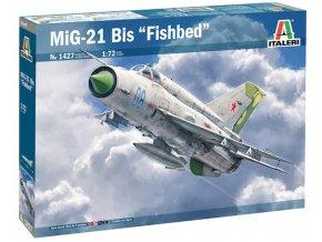 """Italeri - Mikoyan MiG21BiS """"Fishbed (USSR, Poland, Free Libyan AF, Croatian AF), Model Kit 341427, 1/72"""