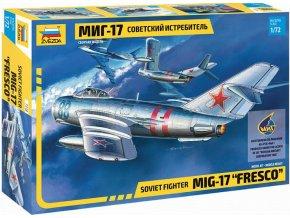 """Zvezda - Mikojan-Gurevič MiG-17 """"Fresco"""", Model Kit 7318, 1/72"""