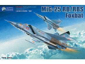 Kitty Hawk - Mikoyan MiG25RB/RBT Foxbat, Model Kit  KH80113, 1/48