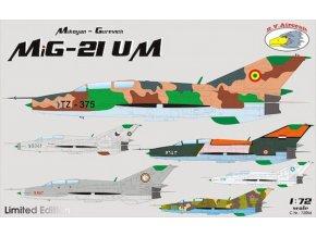 "RV Aircraft - Mikojan-Gurevič MiG-21UM ""Fishbed - Mongol"", Model Kit C72056, 1/72"