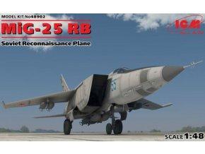 ICM - Mikoyan MiG-25RB Foxbat Soviet recce Plane, Model Kit ICM48902, 1/48