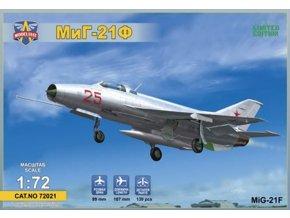 """Modelsvit - Mikojan-Gurevič MiG-21F """"Fishbed"""" (Izdeliye """"72"""") Soviet supersonic fighter, Model Kit 72021, 1/72"""