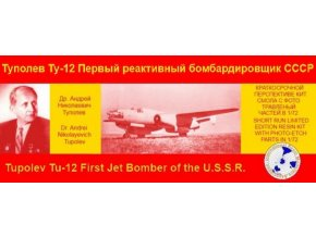 Int. Resin Modellers Ass - Tupolev Tu-12, Model Kit  IRMA-9, 1/72
