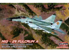 "Kora Models - Mikojan-Gurevič MIG-29 ""Fulcrum"" A in Balkan Area Service (Hungary, Bulgaria, Serbia, Romania), Model Kit KPK48004, 1/48"