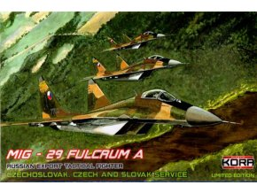 "Kora Models - Mikojan-Gurevič MIG-29 ""Fulcrum"" A in Czechoslovak, Czech, and Slovak Service, Model Kit KPK48001, 1/48"