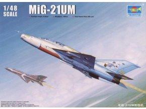 """Trumpeter - Mikojan-Gurevič MiG-21UM """"Fishbed- Mongol"""", Model Kit TR02865, 1/48"""