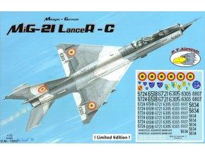 "RV Aircraft - Mikojan-Gurevič MiG-21MF ""Fishbed"" Lancer C, Model Kit C72037, 1/72"