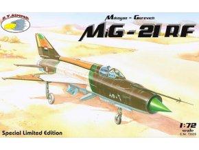 "RV Aircraft - Mikojan-Gurevič MiG-21RF ""Fishbed"" (incl. metal Pitot tube), Model Kit C72039, 1/72"