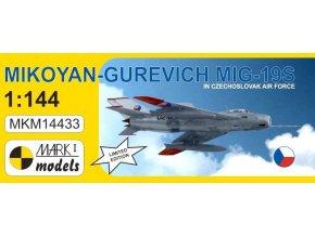 "Mark1 decals - Mikojan-Gurevič MiG-19S ""Farmer C"", československé letectvo, Model Kit MKM14433, 1/144"